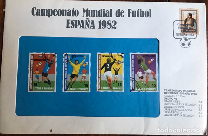 Sellos: Lote de 21 sobre sellos campeonato mundial fútbol 1982 y regalo - Foto 7 - 207871870