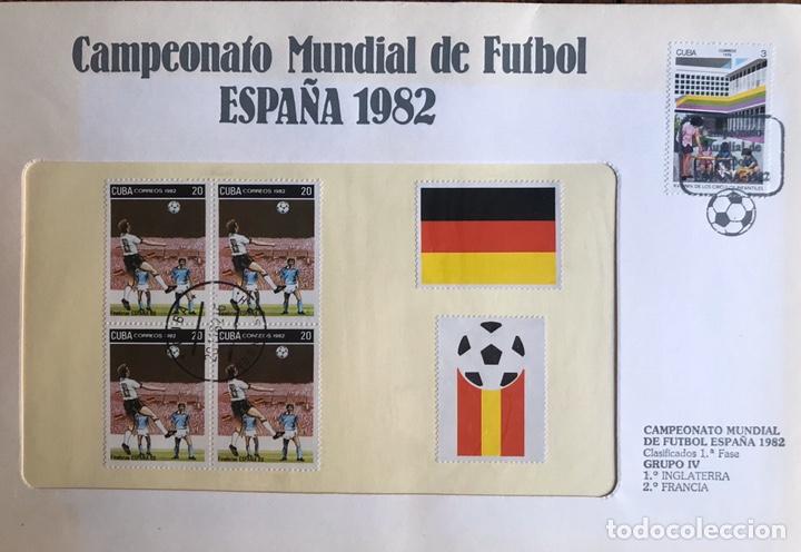 Sellos: Lote de 21 sobre sellos campeonato mundial fútbol 1982 y regalo - Foto 10 - 207871870
