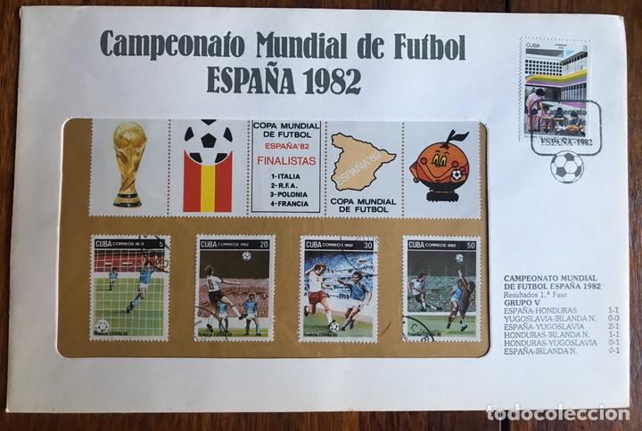 Sellos: Lote de 21 sobre sellos campeonato mundial fútbol 1982 y regalo - Foto 11 - 207871870