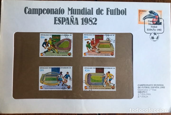 Sellos: Lote de 21 sobre sellos campeonato mundial fútbol 1982 y regalo - Foto 12 - 207871870