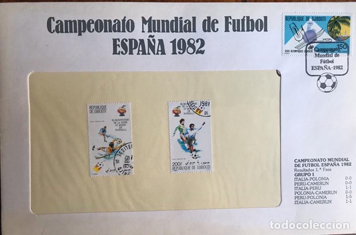 Sellos: Lote de 21 sobre sellos campeonato mundial fútbol 1982 y regalo - Foto 13 - 207871870