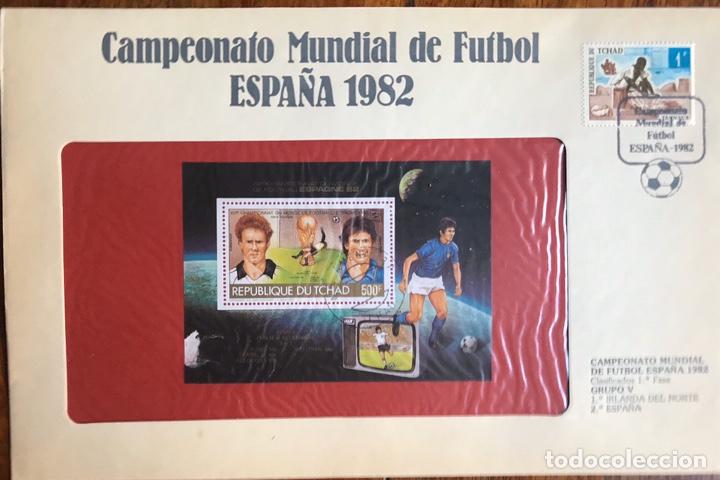 Sellos: Lote de 21 sobre sellos campeonato mundial fútbol 1982 y regalo - Foto 14 - 207871870