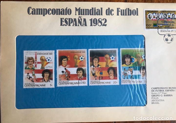 Sellos: Lote de 21 sobre sellos campeonato mundial fútbol 1982 y regalo - Foto 15 - 207871870