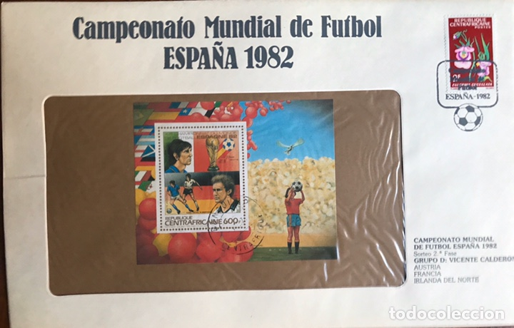 Sellos: Lote de 21 sobre sellos campeonato mundial fútbol 1982 y regalo - Foto 16 - 207871870