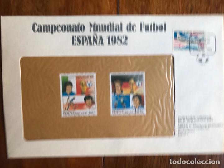Sellos: Lote de 21 sobre sellos campeonato mundial fútbol 1982 y regalo - Foto 17 - 207871870