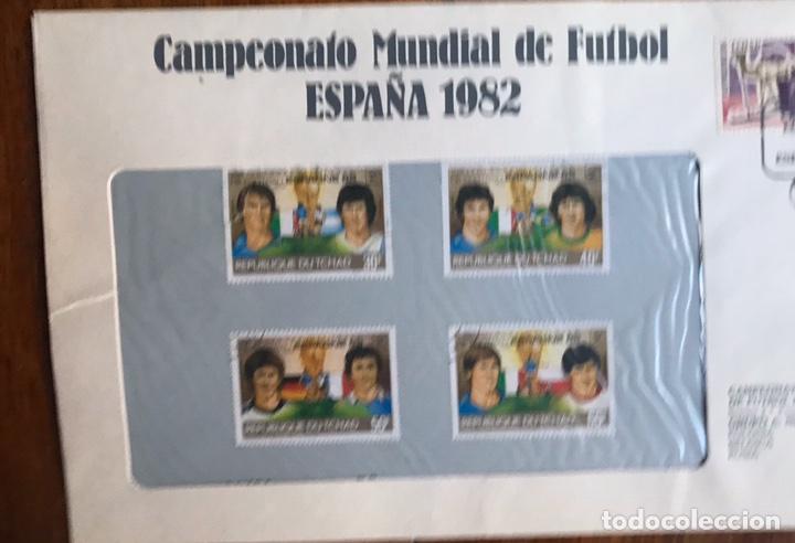 Sellos: Lote de 21 sobre sellos campeonato mundial fútbol 1982 y regalo - Foto 18 - 207871870
