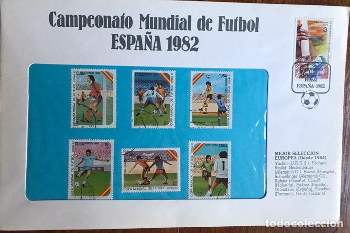 Sellos: Lote de 21 sobre sellos campeonato mundial fútbol 1982 y regalo - Foto 19 - 207871870