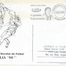 Sellos: 1990. ARGENTINA. RODILLO/SLOGAN. ITALIA'90-ARGENTINA SUBCAMPEÓN. MARADONA. FÚTBOL/FOOTBALL.. Lote 208839760