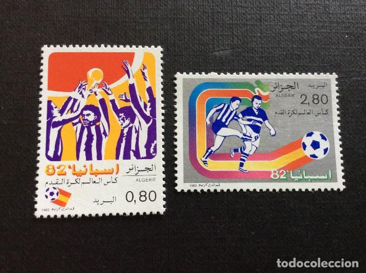 ARGELIA Nº YVERT 753/4** AÑO 1982. CAMPEONATO DEL MUNDO DE FUTBOL, EN ESPAÑA. CON CHARNELA (Sellos - Temáticas - Deportes)