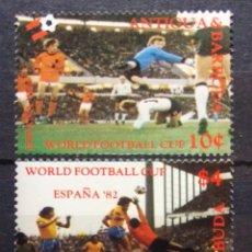 Selos: MUNDIAL FUTBOL ESPAÑA 82 SERIE COMPLETA DE SELLOS NUEVOS DE ANTIGUA Y BARBUDA. Lote 209353803
