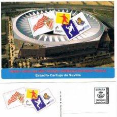 Sellos: TARJETA ENTERO POSTAL 2020, FINAL COPA DEL REY REAL SOCIEDAD-ATHLETIC DE BILBAO, CARTUJA DE SEVILLA. Lote 210023413