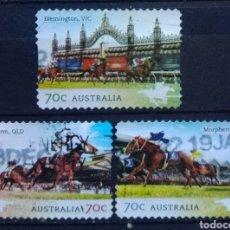 Selos: AUSTRALIA RECIENTE HÍPICA SERIE DE SELLOS USADOS. Lote 210065161