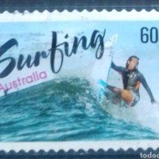 Sellos: AUSTRALIA DEPORTES ACUÁTICOS SURFING SELLO USADO. Lote 210191627