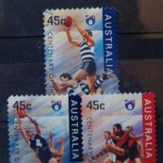 Sellos: AUSTRALIA FUTBOL AUSTRALIANO SERIE DE SELLOS USADOS. Lote 210222422