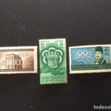 Sellos: EGIPTO Nº YVERT 282/4** AÑO 1951.PRIMEROS JUEGOS DEL MEDITERRANEO, EN ALEJANDRIA. SERIE CON CHARNELA. Lote 210702477