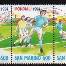 Sellos: SAN MARINO - MUNIAL DE FTBOL 1994 EN U.S.A. - 1370/4***. Lote 211470002