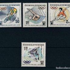 Sellos: CHECOSLOVAQUIA 1972 IVERT 1911/4 *** JUEGOS OÍIMPICOS DE MUNICH - DEPORTES. Lote 212375948