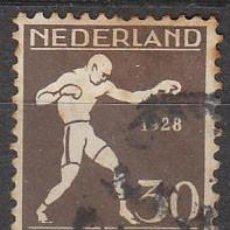 Sellos: HOLANDA Nº 206 (AÑO 1928), BOXEO, OLIMPIDADA DE AMSTERDAM, USADO (EL SELLO MÁS ANTIGUO DEL BOXEO). Lote 213345426