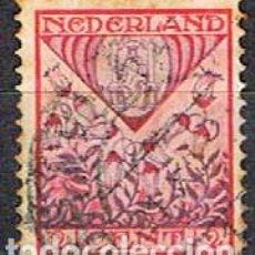 Sellos: HOLANDA Nº 195 (AÑO 1927), SOBRETASA PARA AYUDA AL LA INFANCIA, ESCUDO DE DRENTHE, USADO. Lote 213413396