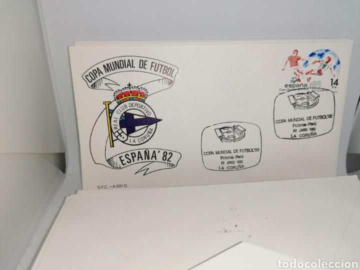 Sellos: Lote Furbol Colección Sellos Mundial 82 todos los encuentros estadios clubs - Foto 10 - 213540978