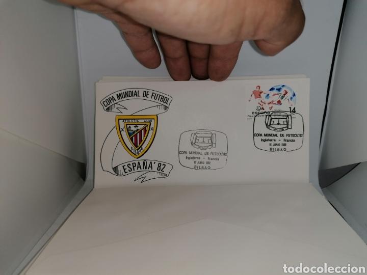 Sellos: Lote Furbol Colección Sellos Mundial 82 todos los encuentros estadios clubs - Foto 12 - 213540978