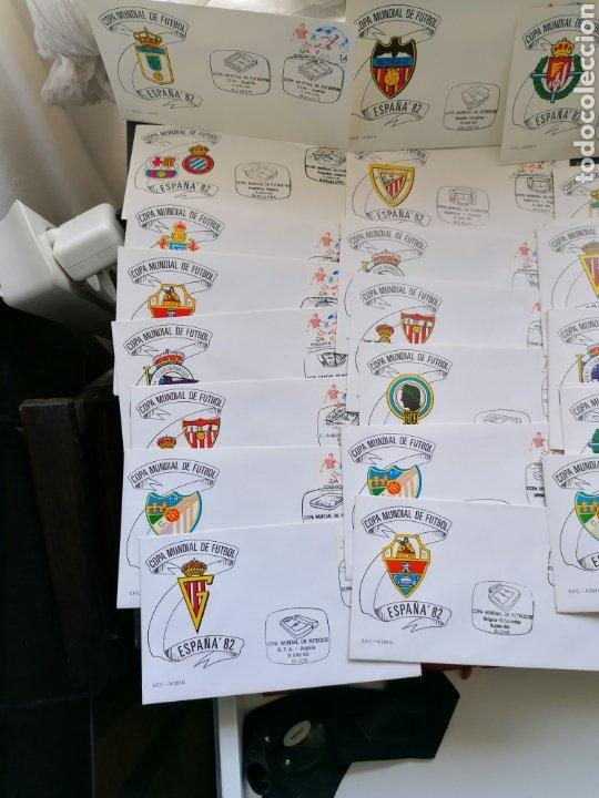 Sellos: Lote Furbol Colección Sellos Mundial 82 todos los encuentros estadios clubs - Foto 2 - 213540978