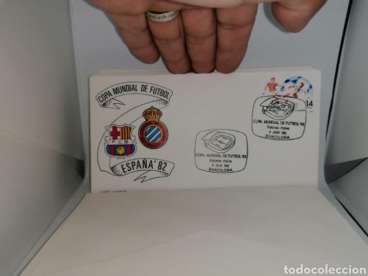 Sellos: Lote Furbol Colección Sellos Mundial 82 todos los encuentros estadios clubs - Foto 14 - 213540978