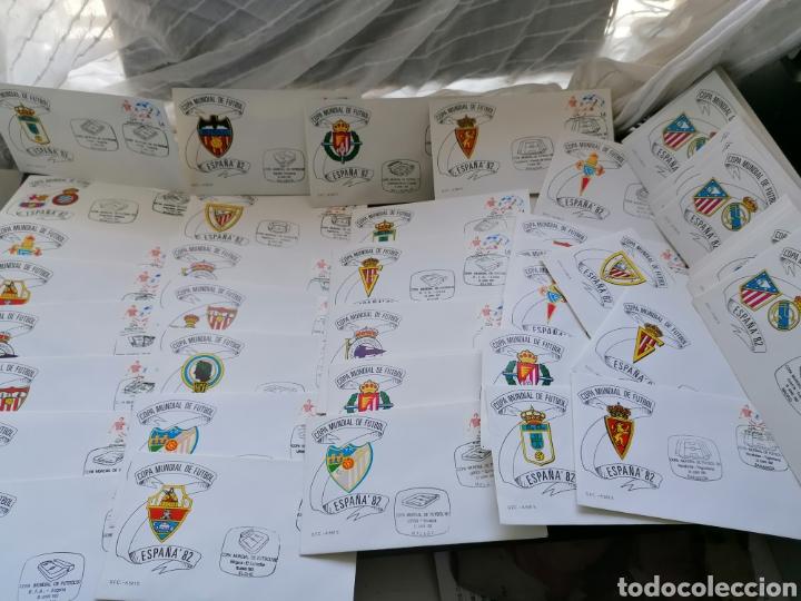 LOTE FURBOL COLECCIÓN SELLOS MUNDIAL 82 TODOS LOS ENCUENTROS ESTADIOS CLUBS (Sellos - Temáticas - Deportes)