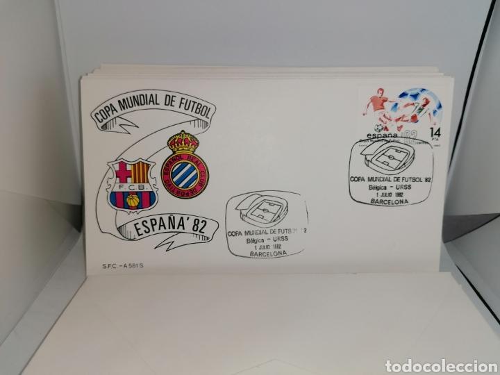 Sellos: Lote Furbol Colección Sellos Mundial 82 todos los encuentros estadios clubs - Foto 15 - 213540978