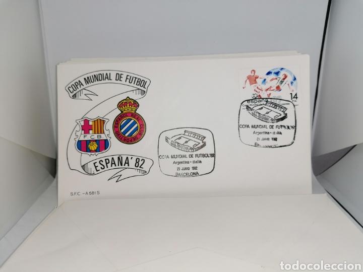 Sellos: Lote Furbol Colección Sellos Mundial 82 todos los encuentros estadios clubs - Foto 16 - 213540978