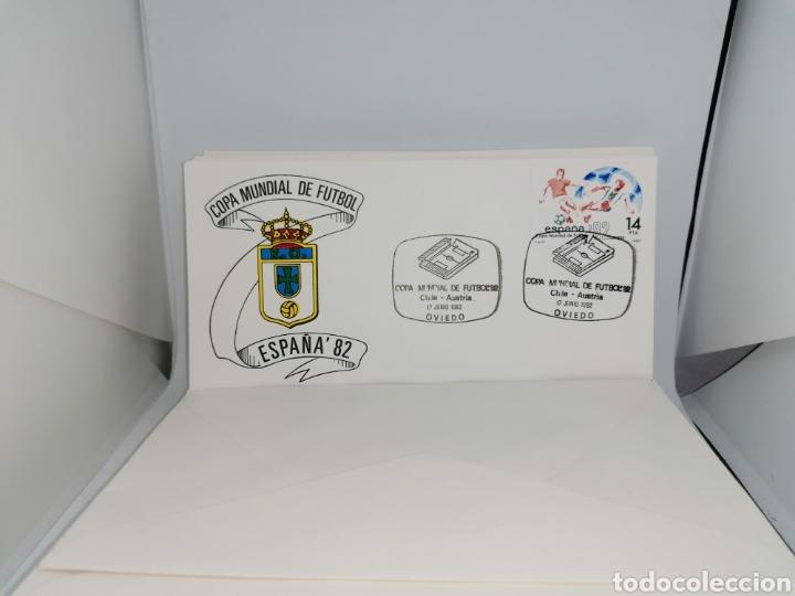 Sellos: Lote Furbol Colección Sellos Mundial 82 todos los encuentros estadios clubs - Foto 22 - 213540978