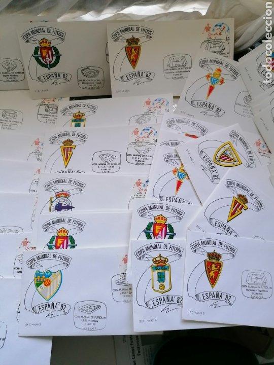 Sellos: Lote Furbol Colección Sellos Mundial 82 todos los encuentros estadios clubs - Foto 3 - 213540978