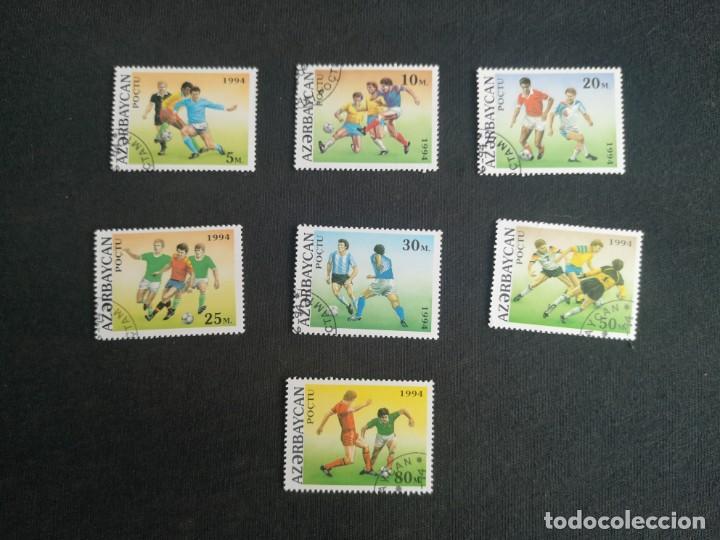 AZERBAIYÁN LOTE SELLOS DE FUTBOL - FOOTBALL 1994 (Sellos - Temáticas - Deportes)