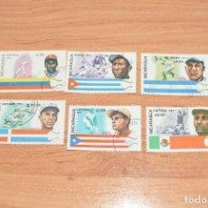 Sellos: 6 SELLOS DE BEISBOL DE NICARAGUA. Lote 217108897