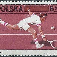 Sellos: 1981. POLONIA/POLAND. YVERT 2572**MNH. 60 ANIVERSARIO FEDERACIÓN POLACA DE TENIS. TENNIS.. Lote 217430485