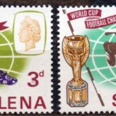 Francobolli: ST. HELENA/1966/MNH/SC# 188-9/ COPA MUNDIAL DE FUTBOL INGLATERRA 1966. Lote 217586537