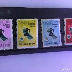 Sellos: LOTE COMPLETO 4 SERIES DISTINTOCOLOR.ATLETISMO ESPERANTO OLIMPIADAS 1960 ROMA. Lote 217952590