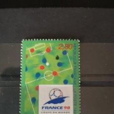 Sellos: FRANCIA 1996 COPA MUNDIAL DE FÚTBOL. Lote 218122525