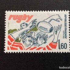 Sellos: FRANCIA Nº YVERT 2236** AÑO 1982 DEPORTES. RUGBY. SELLO CON CHARNELA. Lote 218845951