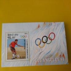 Sellos: 1983 LAOS HOJA BLOQUE NUEVO FUTBOL JUEGOS OLIMPICOS ANGELES 84 YVERT 70. Lote 218916551