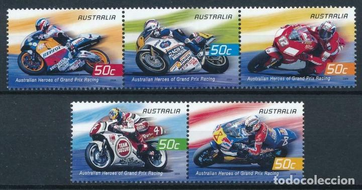 AUSTRALIA 2004 IVERT 2268/72 *** DEPORTES - MOTOCICLISMO - GRANDES PILOTOS (Sellos - Temáticas - Deportes)