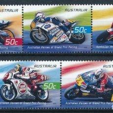 Sellos: AUSTRALIA 2004 IVERT 2268/72 *** DEPORTES - MOTOCICLISMO - GRANDES PILOTOS. Lote 219878303