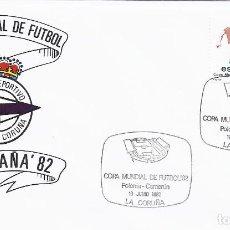 Sellos: SPD COPA MUNDIAL DE FUTBOL ESPAÑA 82 PARTIDO POLONA-CAMERU.SEDE CORUÑA (DEPORTIVO). Lote 219893736