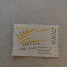 Sellos: SELLO AÑO 2002 -3880 CENTENARIO DEL REAL MADRID CLUB DE FÚTBOL. Lote 220413660