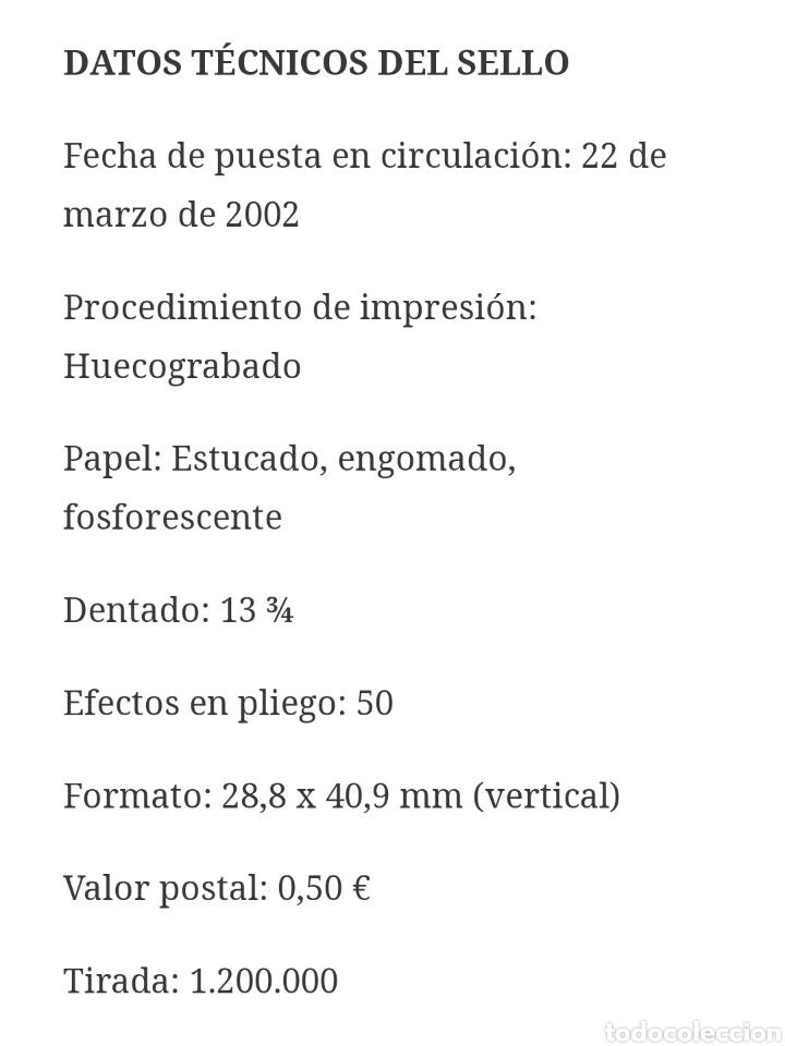 Sellos: Sello España SELLO   CENTENARIO REAL UNIÓN CLUB DE IRÚN 2002 - Foto 2 - 220490648
