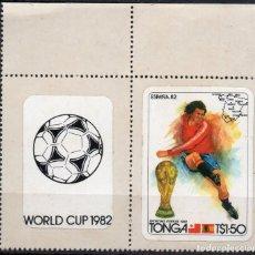 Sellos: TONGA/1982/MNH/SC#512/ MUNDIAL DE FUTBOL ESPAÑA 1982 / DEPORTES / PAR. Lote 221343413
