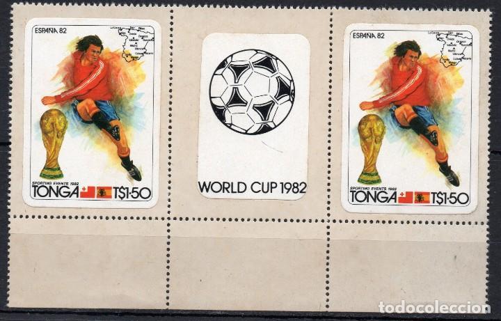 TONGA/1982/MNH/SC#512/ MUNDIAL DE FUTBOL ESPAÑA 1982 / DEPORTES / PAR / BALON (Sellos - Temáticas - Deportes)