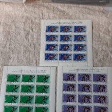 Sellos: 3076/3978 DEPORTES 1990 MINI PLIEGO 17/18/19 ESPAÑA LUCHA/BÉISBOL NATACIÓN PRE BARCELONA 92. Lote 221746517