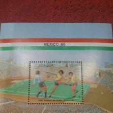 Sellos: HB NICARAGUA NUEVOS/1985/COPA/CAMPEONATO/MUNDIAL/FUTBOL/MEXICO,86/DEPORTE/JUEGOS/SELECCIONES/. Lote 221822703