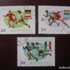 Sellos: +HUNGRIA, 1978, COPA MUNDIAL DE FUTBOL. Lote 221909160